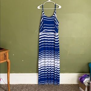 Apt 9 blue striped maxi dress